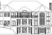 Traditional Style House Plan - 6 Beds 7 Baths 10565 Sq/Ft Plan #117-228 Exterior - Rear Elevation