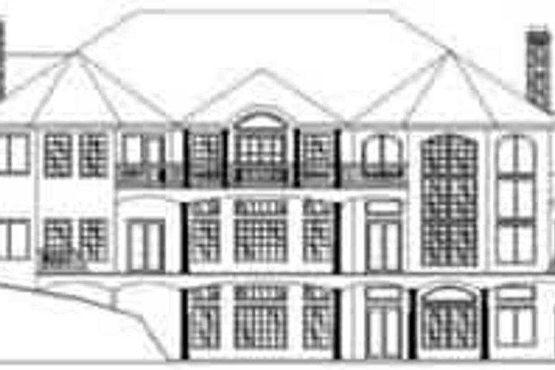 Traditional Exterior - Rear Elevation Plan #117-228 - Houseplans.com