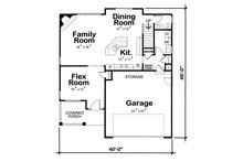 Traditional Floor Plan - Main Floor Plan Plan #20-1769