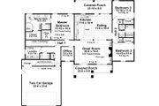 Craftsman Style House Plan - 3 Beds 2.5 Baths 2023 Sq/Ft Plan #21-387 Floor Plan - Main Floor Plan