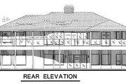 European Style House Plan - 3 Beds 2.5 Baths 1731 Sq/Ft Plan #18-176 Exterior - Rear Elevation