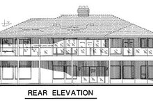European Exterior - Rear Elevation Plan #18-176