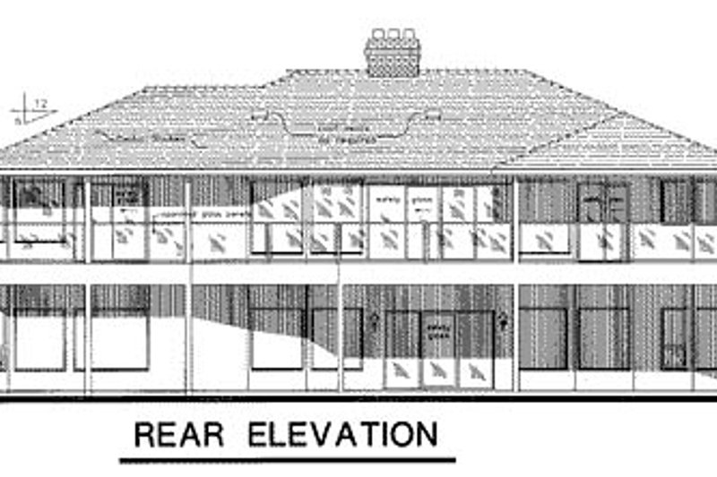 European Exterior - Rear Elevation Plan #18-176 - Houseplans.com