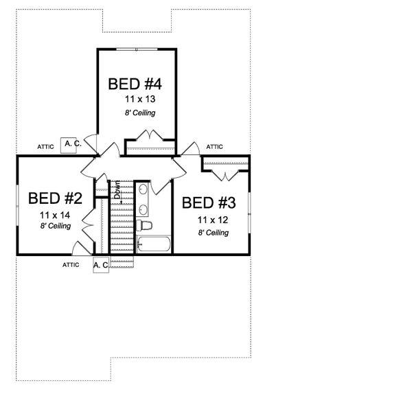 House Plan Design - Cottage Floor Plan - Upper Floor Plan #513-2175