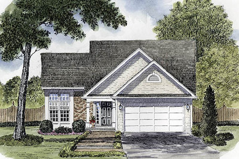 Traditional Style House Plan - 3 Beds 2.5 Baths 1493 Sq/Ft Plan #316-105 Exterior - Front Elevation
