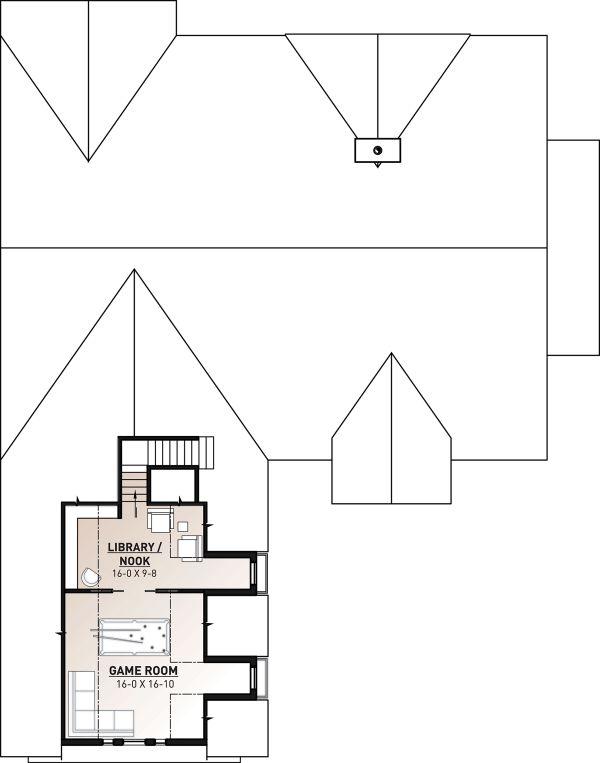 Farmhouse Floor Plan - Upper Floor Plan Plan #23-2689
