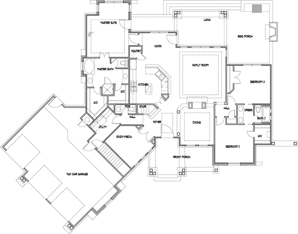 Craftsman Style House Plan - 3 Beds 2.5 Baths 2091 Sq/Ft Plan #120 on