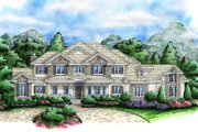 Country Style House Plan - 3 Beds 4.5 Baths 8918 Sq/Ft Plan #27-531 Exterior - Front Elevation