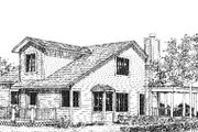 Craftsman Style House Plan - 2 Beds 2 Baths 1859 Sq/Ft Plan #320-421 Exterior - Rear Elevation