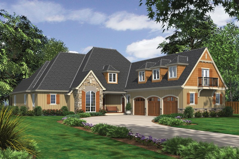 Home Plan - European Exterior - Front Elevation Plan #48-614