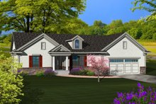 Dream House Plan - Ranch Exterior - Front Elevation Plan #70-1115