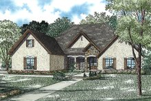 House Plan Design - European Exterior - Front Elevation Plan #17-2429