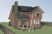 Bungalow Style House Plan - 3 Beds 2.5 Baths 950 Sq/Ft Plan #79-275 Exterior - Other Elevation