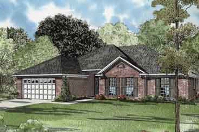 Traditional Style House Plan - 3 Beds 2 Baths 1749 Sq/Ft Plan #17-2088 Exterior - Front Elevation