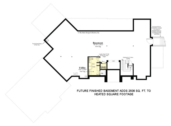 Contemporary Floor Plan - Lower Floor Plan #930-506