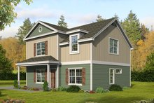Architectural House Design - Country Exterior - Front Elevation Plan #932-392