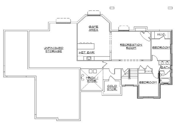 European Floor Plan - Lower Floor Plan Plan #5-248
