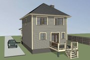 Southern Style House Plan - 3 Beds 2.5 Baths 1280 Sq/Ft Plan #79-172 Exterior - Rear Elevation