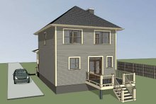 Southern Exterior - Rear Elevation Plan #79-172