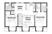 Traditional Style House Plan - 2 Beds 2 Baths 920 Sq/Ft Plan #18-318 Floor Plan - Upper Floor Plan