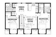 Traditional Style House Plan - 2 Beds 2 Baths 920 Sq/Ft Plan #18-318 Floor Plan - Upper Floor Plan