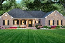 Dream House Plan - Southern Exterior - Front Elevation Plan #21-328