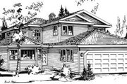 Traditional Style House Plan - 3 Beds 2.5 Baths 1919 Sq/Ft Plan #18-9080 Exterior - Front Elevation