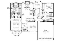 Traditional Floor Plan - Main Floor Plan Plan #927-10