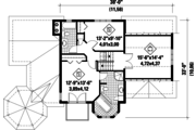 Victorian Style House Plan - 3 Beds 2 Baths 1906 Sq/Ft Plan #25-4742 Floor Plan - Upper Floor