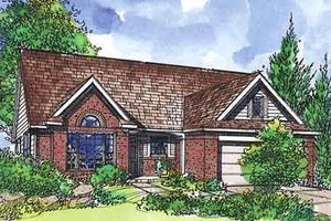 Traditional Exterior - Front Elevation Plan #320-408