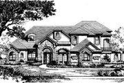 European Style House Plan - 5 Beds 5 Baths 5500 Sq/Ft Plan #135-103 Exterior - Front Elevation