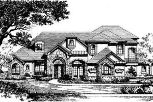 European Exterior - Front Elevation Plan #135-103