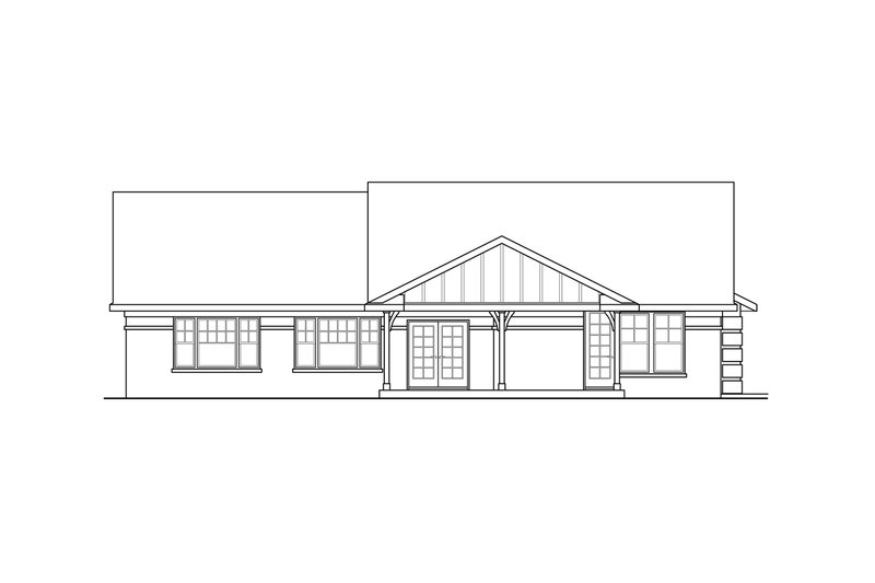 Ranch Exterior - Rear Elevation Plan #124-900 - Houseplans.com