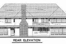 European Exterior - Rear Elevation Plan #18-9009