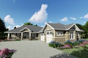 Craftsman Style House Plan - 2 Beds 2.5 Baths 2366 Sq/Ft Plan #1069-14 Exterior - Front Elevation