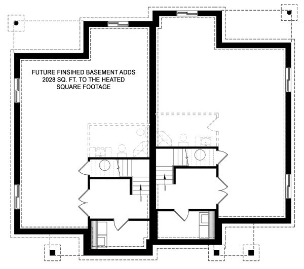 Contemporary Floor Plan - Lower Floor Plan Plan #23-2720