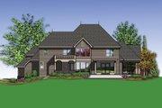 European Style House Plan - 4 Beds 3.5 Baths 4888 Sq/Ft Plan #48-620 Exterior - Rear Elevation