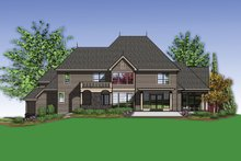 Dream House Plan - European Exterior - Rear Elevation Plan #48-620