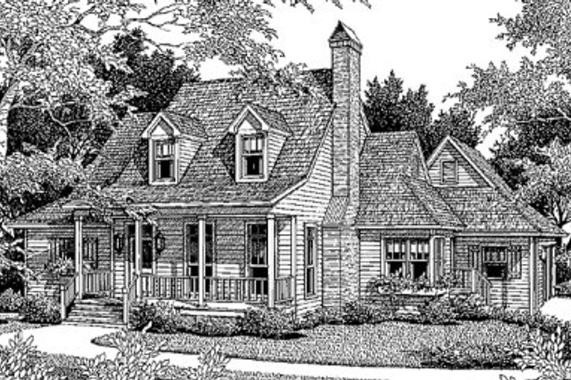 Country Exterior - Front Elevation Plan #41-134 - Houseplans.com