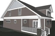 Craftsman Style House Plan - 3 Beds 2.5 Baths 2100 Sq/Ft Plan #461-25 Exterior - Rear Elevation