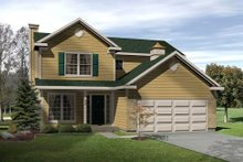 House Plan Design - Traditional Exterior - Front Elevation Plan #22-425