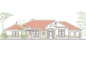 Mediterranean Exterior - Front Elevation Plan #80-164