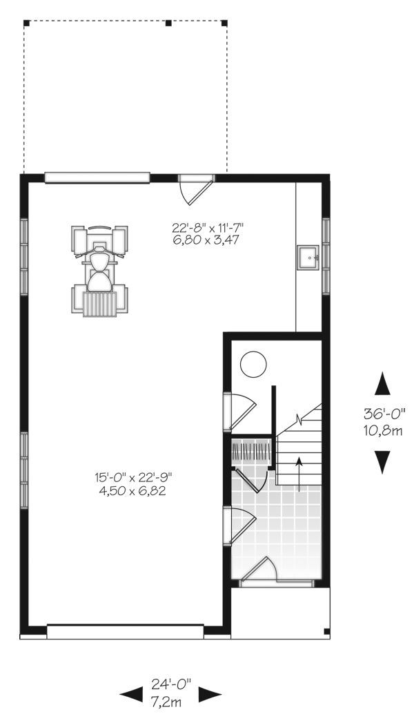 Modern Floor Plan - Main Floor Plan Plan #23-2710
