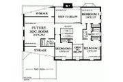 Colonial Style House Plan - 3 Beds 3 Baths 2784 Sq/Ft Plan #137-135 Floor Plan - Upper Floor Plan