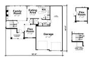 Craftsman Style House Plan - 3 Beds 2.5 Baths 2023 Sq/Ft Plan #20-2084 Floor Plan - Main Floor Plan