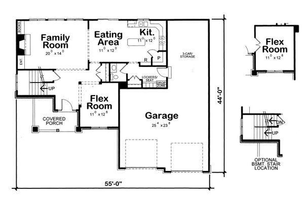 Craftsman Floor Plan - Main Floor Plan Plan #20-2084