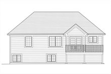 House Plan Design - Craftsman Exterior - Rear Elevation Plan #46-501