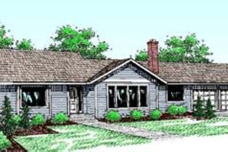 Traditional Exterior - Front Elevation Plan #60-409 - Houseplans.com