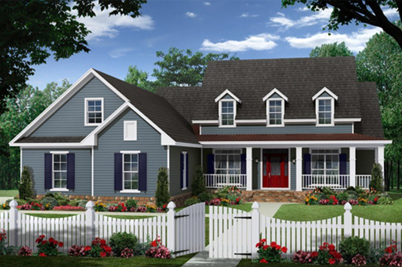 Country Exterior - Front Elevation Plan #21-335 - Houseplans.com