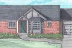 Ranch Exterior - Front Elevation Plan #136-116
